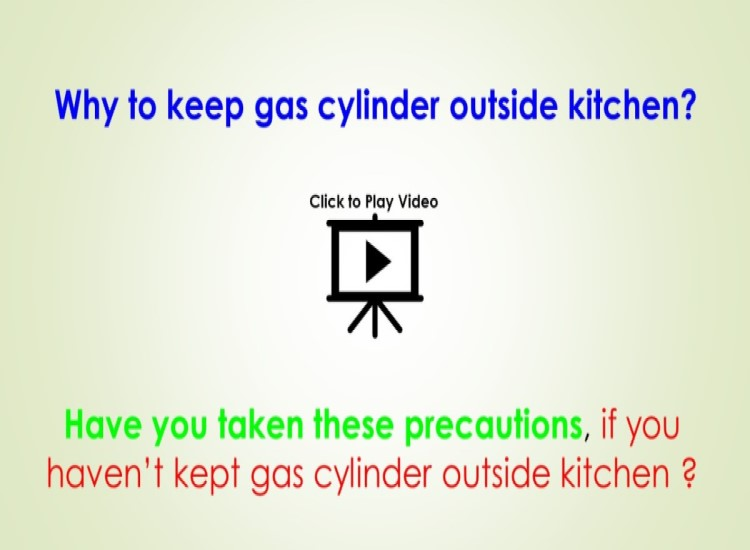 2 reasons to keep Gas cylinder outside kitchen